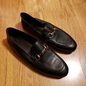 Womens Gucci Brixton Leather Loafer 8.5